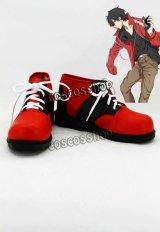 カゲロウプロジェクト 如月伸太郎 如月シンタロー コスプレ靴 ブーツ