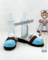 超次元ゲイム ネプテューヌ Blanc ブラン コスプレ靴 ブーツ