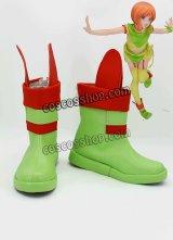 エルビ一·プル風 コスプレ靴 ブーツ