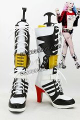 The Batman バットマン ビギンズ風 ハーレイ・クイン風 コスプレ靴 ブーツ