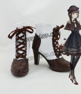 ニキの愛されコーデ風 チョコレート コスプレ靴 ブーツ