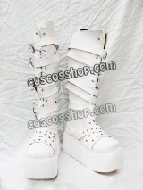 シューズ ゴスロリ ゴシック 万能風 18 コスプレ靴 ブーツ