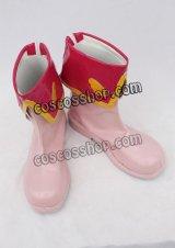 カードキャプターさくら 木之本桜風 コスプレ靴 ブーツ