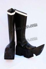 ブラック★ロックシューター ブラック★ゴールドソー風 コスプレ靴 ブーツ
