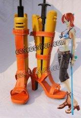 ONE PIECE ワンピース ナミ風 02 コスプレ靴 ブーツ