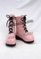 プリン擬人化風 コスプレ靴 ブーツ