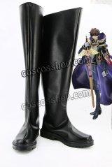 コードギアス反逆のルルーシュ スザク風 コスプレ靴 ブーツ