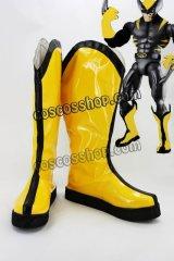 エックスメン x-men Wolverine風 コスプレ靴 ブーツ