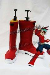 流星のロックマン 星河スバル/ロックマン風 コスプレ靴 ブーツ
