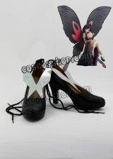 アクセル・ワールド クロユキ ヒメ風 コスプレ靴 ブーツ