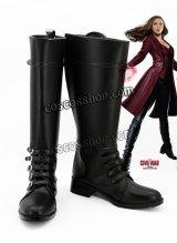 アベンジャーズ The Avengers ワンダ・マキシモフ/スカーレット・ウィッチ風 コスプレ靴 ブーツ
