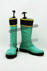 ヒーロー マジグリーン風 コスプレ靴 ブーツ