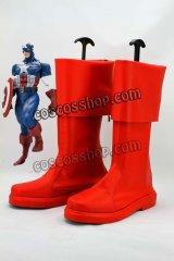 アベンジャーズ The Avengers スティーブ・ロジャース/キャプテン・アメリカ風 コスプレ靴 ブーツ