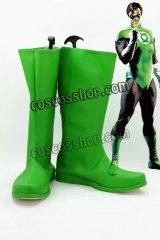 グリーン・ランタン Green Lantern ハル・ジョーダン/グリーンランタン風 コスプレ靴 ブーツ