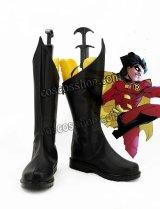 Super Heroes スーパーヒーロー ディック・グレイソン ロビン風 コスプレ靴 ブーツ