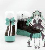 VOCALOID ボーカロイド 初音ミク MIKU風 コスプレ靴 ブーツ