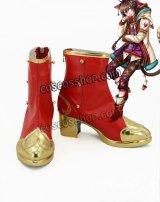 夢王国と眠れる100人の王子様 チェシャ猫風 コスプレ靴 ブーツ