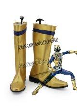 ヒーロー 梅盛源太風 シンケンゴールド コスプレ靴 ブーツ