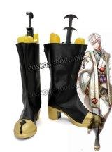 夢王国と眠れる100人の王子様 花の精の国・ヴィラスティン アキト風 未覚醒 コスプレ靴 ブーツ