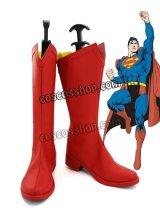 Superman風 スーパーマン コスプレ靴 ブーツ
