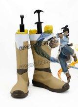 Avatar:Legend of Korra アバター 伝説の少年アン Korra風 戦闘シーン コスプレ靴 ブーツ