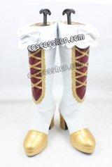 白猫プロジェクト 黒猫コラボ 魔道士風 コスプレ靴 ブーツ