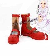 しにがみのバラッド。 モモ風 死神少女 コスプレ靴 ブーツ