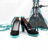 VOCALOID ボーカロイド Synchronicity 巡る世界のレクイエム 初音ミク風 コスプレ靴 ブーツ