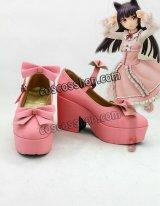 俺の妹がこんなに可愛いわけがない 黒猫風 03 コスプレ靴 ブーツ