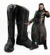 マイティ・ソー ダーク・ワールド Thor: The Dark World ロキ風 コスプレ靴 ブーツ