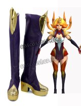 League of Legends LOL リーグ・オブ・レジェンズ Lux ラックス風 Fire Elementalist Lux コスプレ靴 ブーツ