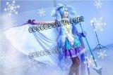 VOCALOID 初音ミク 2014年 雪ミク風 魔法少女 コスプレウィッグ