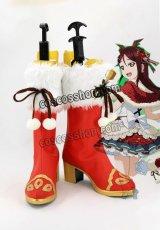ラブライブ!サンシャイン!! Aqours 桜内梨子風 クリスマス編 コスプレ靴 ブーツ