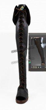 ファイナルファンタジーXIV FF14 黒魔道士風 BLACK MAGE 02 コスプレ靴 ブーツ