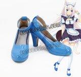 ネコぱら NEKOPARA バニラ風 メイド コスプレ靴 ブーツ
