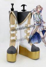 夢王国と眠れる100人の王子様 カストル風 太陽 覚醒 コスプレ靴 ブーツ