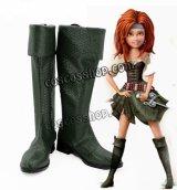 ティンカー・ベルとネバーランドの海賊船 Zarina風 ハロウィン コスプレ靴 ブーツ