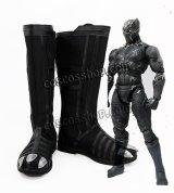 シビル・ウォー/キャプテン・アメリカ Captain America: Civil War ブラックパンサー風 コスプレ靴 ブーツ