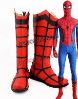 スパイダーマン:ホームカミング Spider-Man: Homecoming スパイダーマン風 コスプレ靴 ブーツ