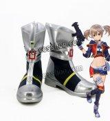 ソードアート・オンライン フェイタル・バレット 綾野珪子風 シリカ風 コスプレ靴 ブーツ