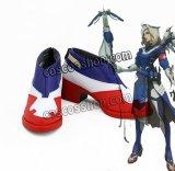 オーバーウォッチ Overwatch マーシー ニケ風 Mercy アンジェラ・ジーグラー風 04 コスプレ靴 ブーツ