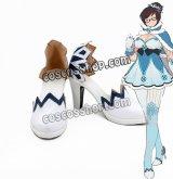 オーバーウォッチ Overwatch Mei メイ=リン・チョウ風 魔法少女 コスプレ靴 ブーツ