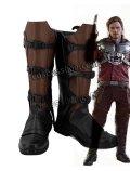 ガーディアンズ・オブ・ギャラクシー Guardians of the Galaxy ピーター・クイル スター・ロード風 03 コスプレ靴 ブーツ