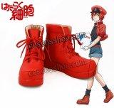 はたらく細胞 赤血球風 コスプレ靴 ブーツ