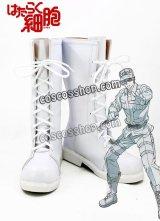 はたらく細胞 白血球風 コスプレ靴 ブーツ