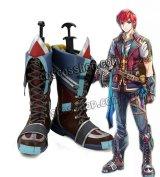 イースVIII -Lacrimosa of DANA- アドル=クリスティン風 コスプレ靴 ブーツ