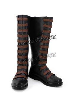 画像1: デッドプール Deadpool Domino 風 02 コスプレ靴 ブーツ