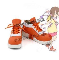 画像1: デジモンアドベンチャー 八神ヒカリ風 コスプレ靴 ブーツ