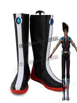 画像1: マクロス ダイナマイト7 熱気バサラ風 コスプレ靴 ブーツ