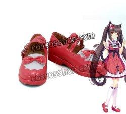 画像1: NEKOPARAネコぱら chocolat ショコラ風 コスプレ靴 ブーツ
